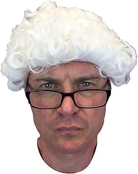 Juge Blanc Perruque Avocat Avocat Cour Baroque Costume Déguisement Homme Adulte