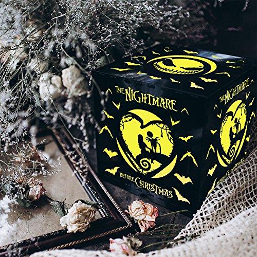 The Nightmare Before Christmas Gift,Night Lamp,Remote Control Nightlight,The Nightmare Before Christmas,Night Light For Kids,Scary Box,Disney Cartoon,Art,Vinyl Record Light Box,Halloween (Modern Halloween Songs 2017)