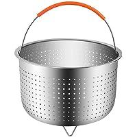 Cesta de acero inoxidable 304, para olla de cocer arroz, olla a presión, antiquemaduras, multifunción, cesta para…