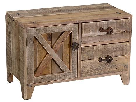 Legno Grezzo Chiaro : Mobile da ingresso panchetta banloc in legno chiaro con 2 cassetti e