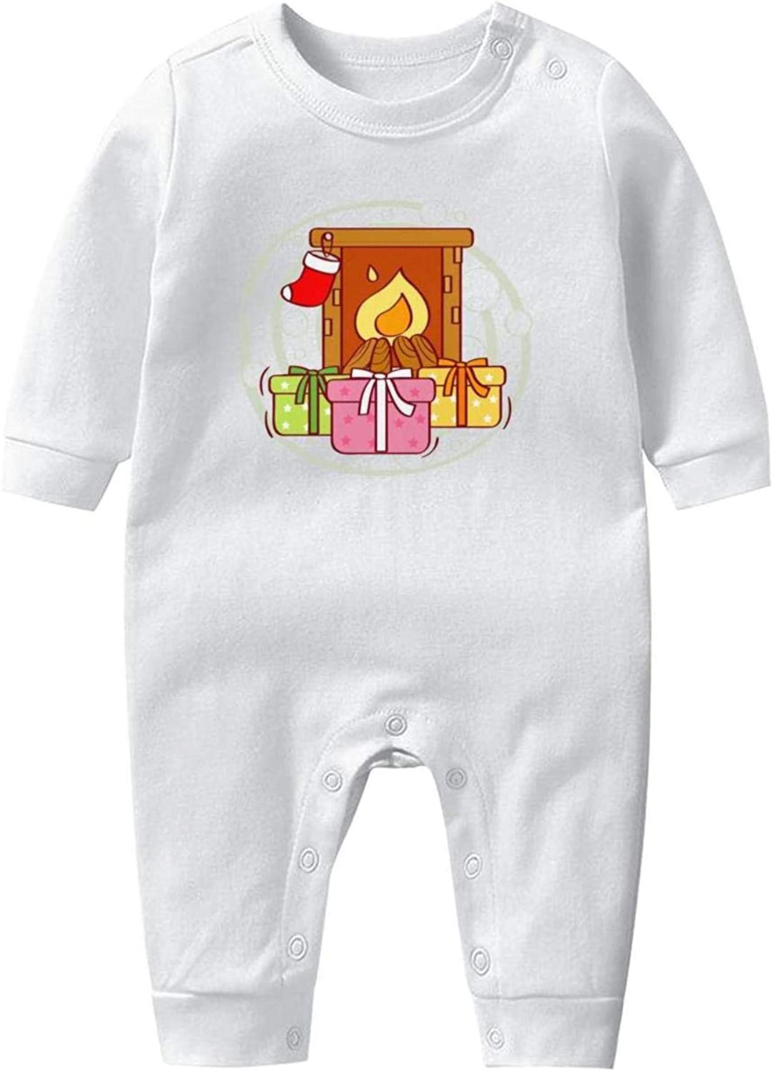 Box Stockings Baby Onesie Organic Cotton Novelty Soft Newborn Long Sleeve Romper