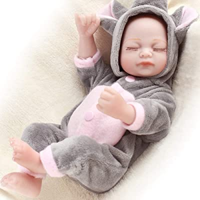 "HiPlay 11"" Reborn Baby Doll- Lifelike Realistic Design with Great Details-Cute Handmade Soft Silicone Vinyl Reborn Dolls Gifts Toys: Toys & Games"