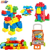Planet of Toys Building Blocks Toys for Kids, Animal and Construction Blocks Toys for 2 Year to 5 Year Kids - Multicolor (106 Pcs)