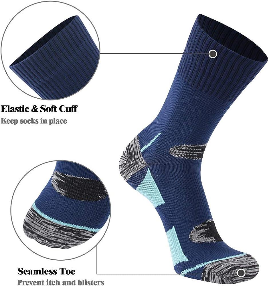 Unisex Men Women Breathable Dry Fit Moisture Wicking Hiking Cycling Crew Socks SuMade 100/% Waterproof Socks