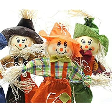 3 Assorted Smiling Scarecrow Picks