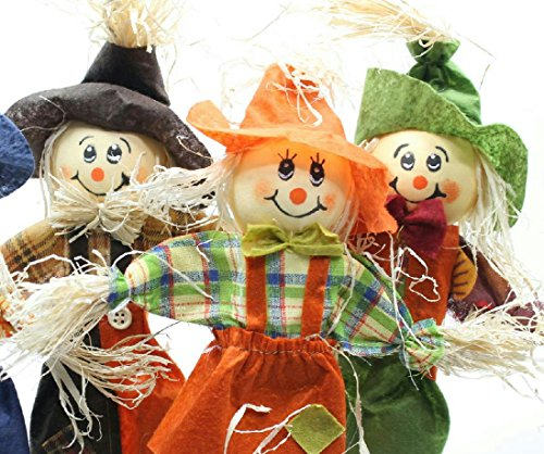 3 Assorted Smiling Scarecrow (Hay Bale Halloween Costume)