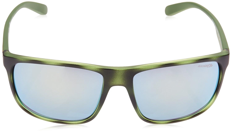 56 mm 4244 Arnette Mens Back Side Non-Polarized Iridium Rectangular Sunglasses Blue Havana