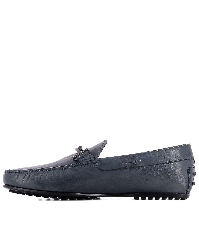 Men's Xxm0lr0q700d9cu817 Blue Leather Loafers