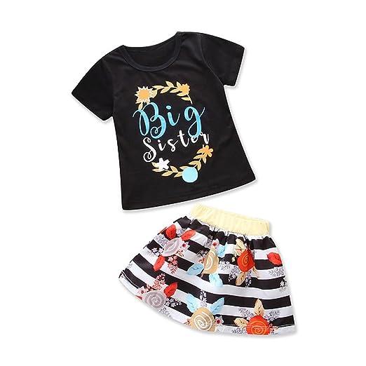 fd9e545e8eb9 Baby Girls Little Big Sister Letters Printed Matching Romper Bodysuit Tops  T-Shirt Polka Dot