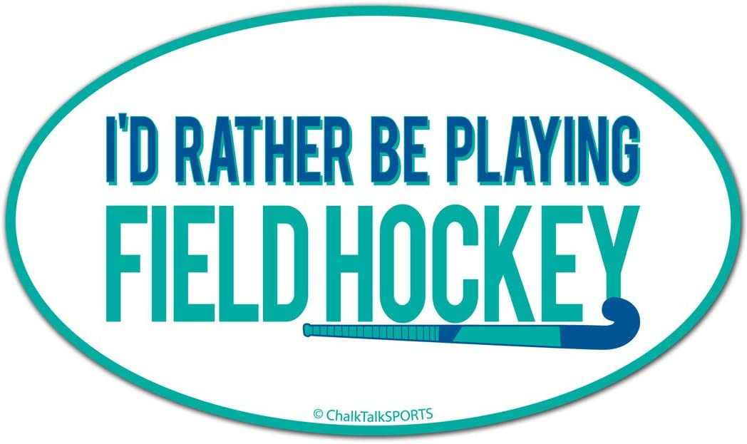 Field Hockey Car Magnet | I'd Rather Be Playing Field Hockey