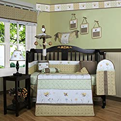 Geenny Boutique Bumble Bee Unisex 13 Piece Baby Crib Bedding Set