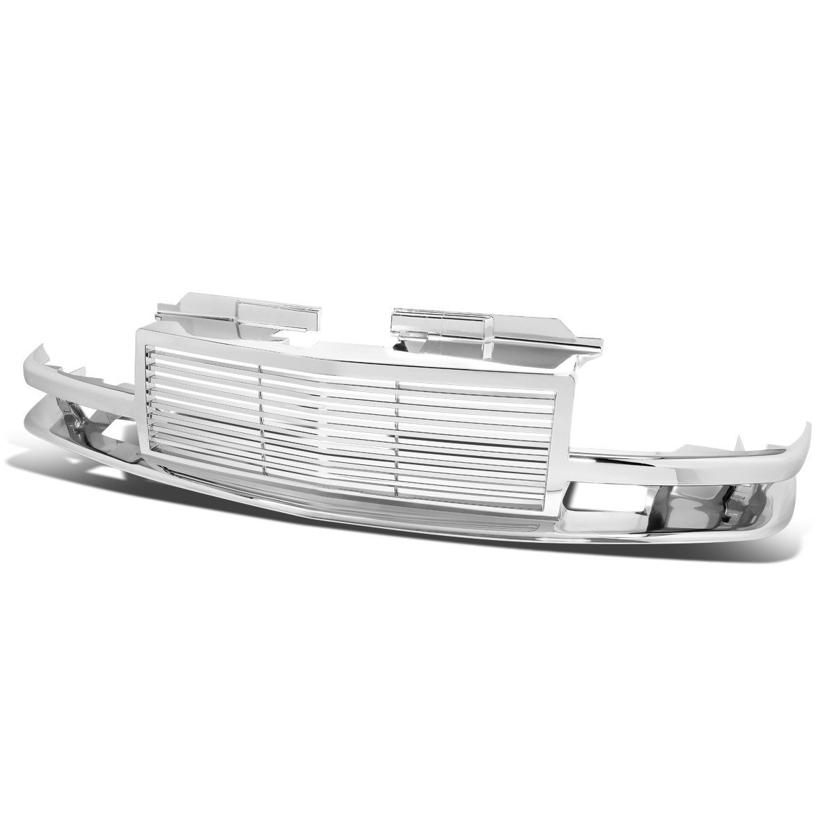 For 98-04 Chevy S10/Blazer ABS Plastic Horizontal Front Bumper Grille (Chrome) - GMT325 GMT330 Auto Dynasty GRZ-S10-9802-CM