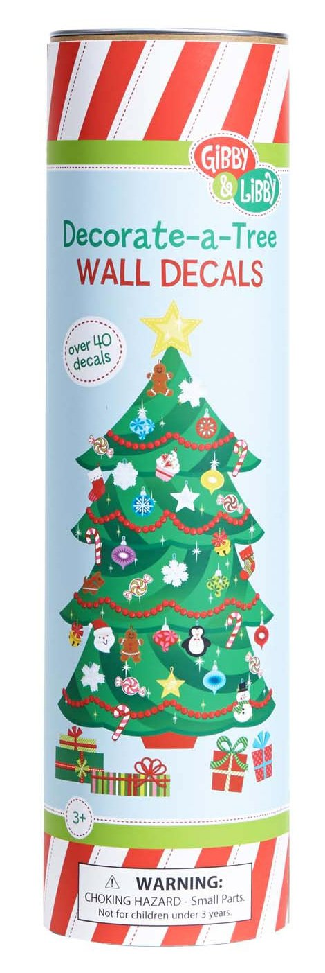 Amazon.com: Gibby And Libby Christmas Tree Wall Decal Set By C.R. Gibson:  Toys U0026 Games