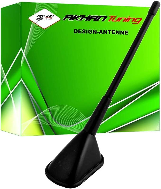 ANTB817 - Antena decorativo NEGRO Diseño ANTENA ANTENA coches DUMMY Tejado Antena universal (longitud: 245 mm)