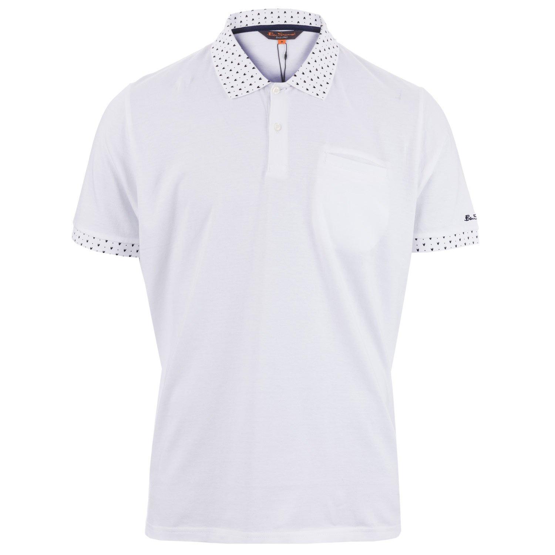 Ben Sherman - Polo - para Hombre Blanco Blanco Medium: Amazon.es ...