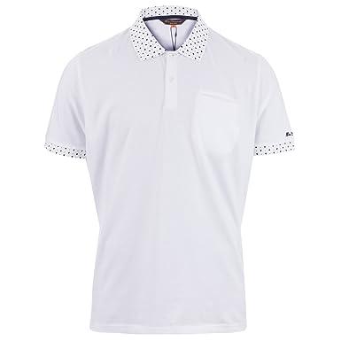 822068dc Amazon.com: Ben Sherman Men's Printed Collar Polo Shirt S White: Ben Sherman:  Clothing