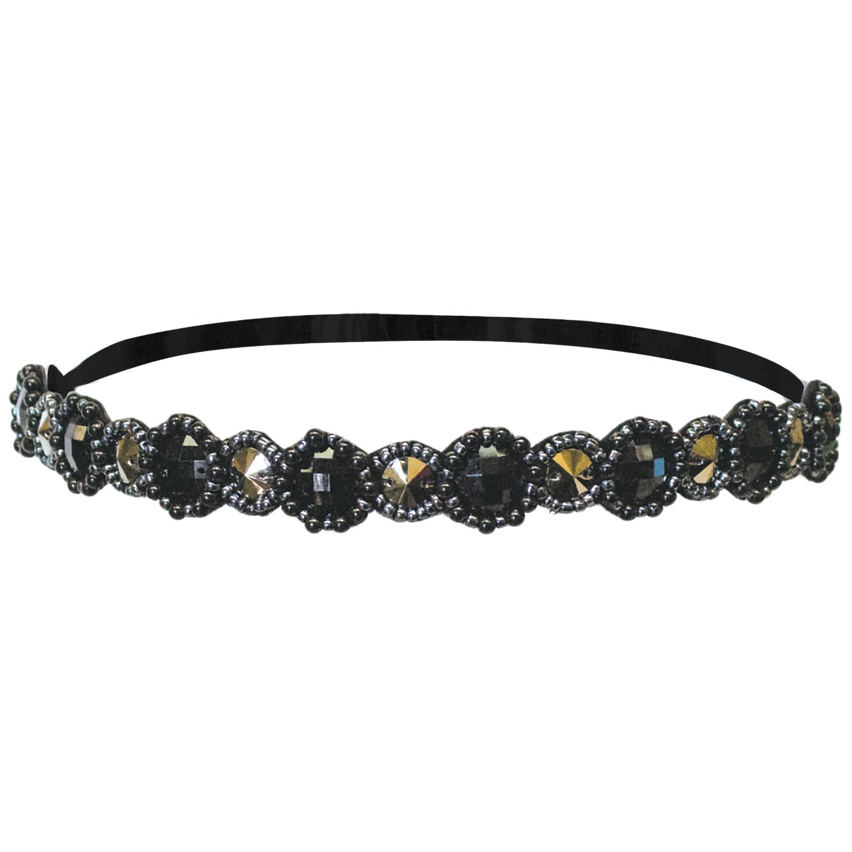 2 Mia Beauty Sheer Lace Headwrap Headband Black Lace Lot of 2