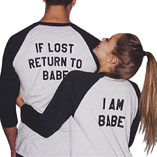 4a94120ccc48e HULKAY New Upgrade Women Men 2019 Long Sleeve Top Couple Clothing T ...