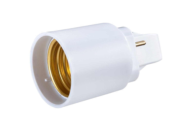 longueur de tige: 42/mm /Longueur totale: 58/mm diam/ètre: 37/mm G24/de d 2/broches Adaptateur vers E27/culot /à vis pour ampoule LED Converter/ G24/Longueur: 22/mm