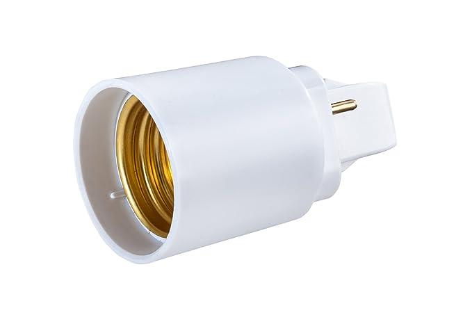 G24 de D adaptador de 2 pines a rosca de E27 para bombilla LED Converter –