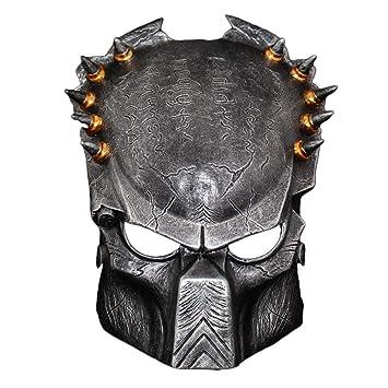 Mesky Máscara de Predator en Halloween para Adultos Mask en Fiestas de Noche de Terror Vívido