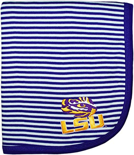 (Louisiana State University LSU Tigers Creative Knitwear Striped Baby and Toddler Blanket )