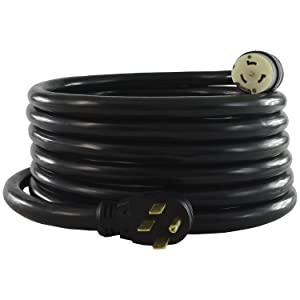 Conntek 1450SS2-15 15-Foot Temp Generator Power Cord, Feet, Elbow Plug