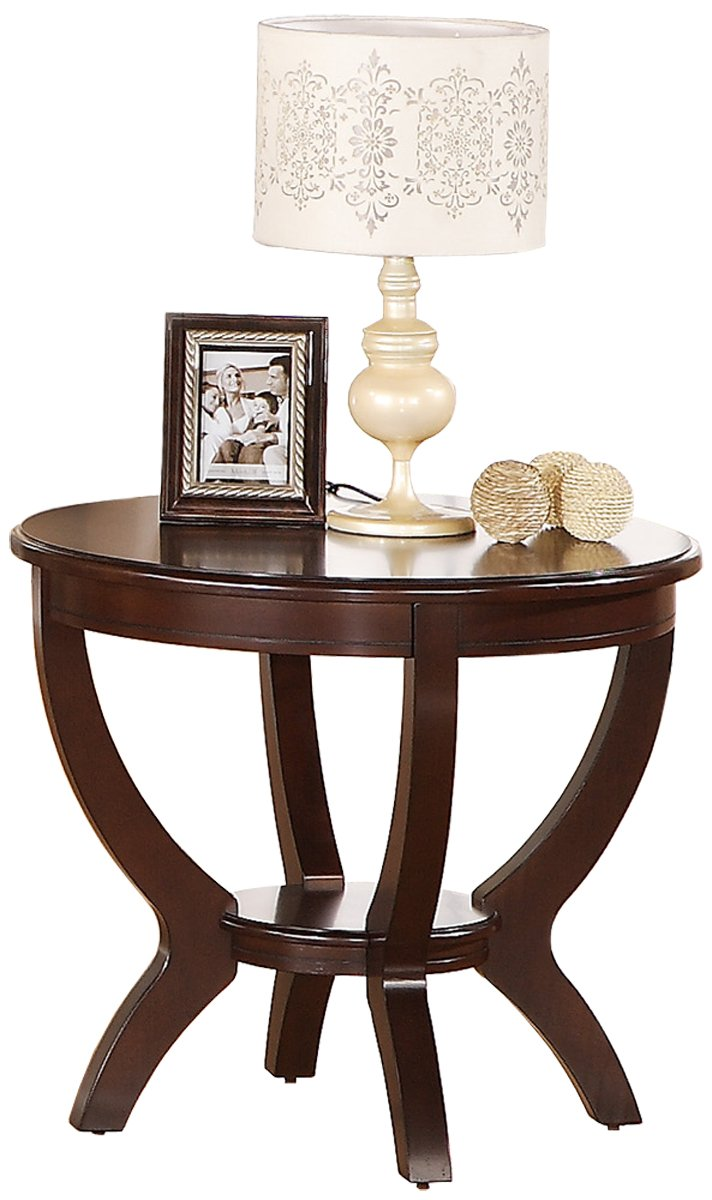 Amazon.com: Crown Mark Brownstown Round End Table: Kitchen & Dining