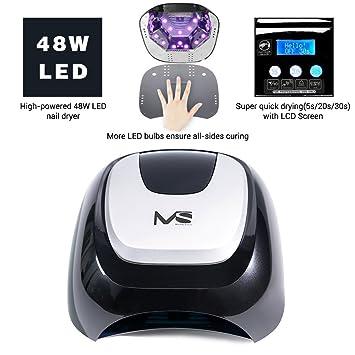 Amazon.com: MelodySusie 48W LED Nail Lamp - Smart Gel Nail Dryer ...