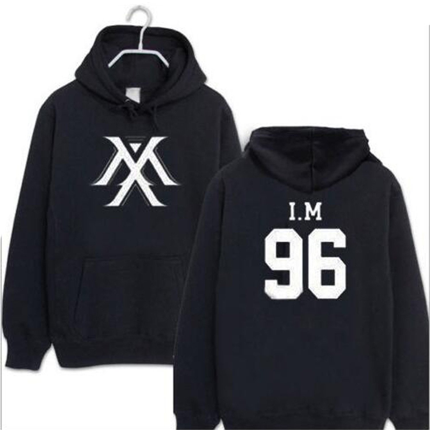 Renee Ander Simple I.M JOOHEON MINHYUK SHOWNU YOOKIHYUN Harajuku Sweatshirt Hoodie Fleeces Coat Long Sleeve Hoody at Amazon Womens Clothing store: