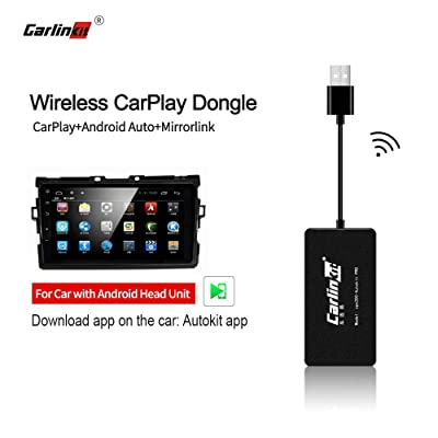 Carlinkit Wireless Carplay Dongle Wired Android Auto for Car with Android Head Unit System Installed autokit app in car, Support MirrorScreen/iOS13/Online Upgrade Dongle, NOT for OEM Factory Car Unit: Car Electronics