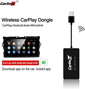 Carlinkit Wireless Carplay Dongle Wired Android Auto for Car with Android Head Unit System Installed autokit app in car, Support MirrorScreen/iOS13/Online Upgrade Dongle, NOT for OEM Factory Car Unit
