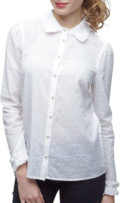 Camisa PLUMETTI Botones Perla 44 Blanco: Amazon.es ...