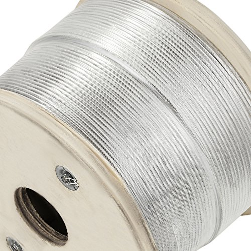 """LOVSHARE 1/8"""" 1000FT Wire Rope T316 Stainless Steel Cable Railing 1x19 Strand Core Cable Reel by LOVSHARE (Image #5)"""