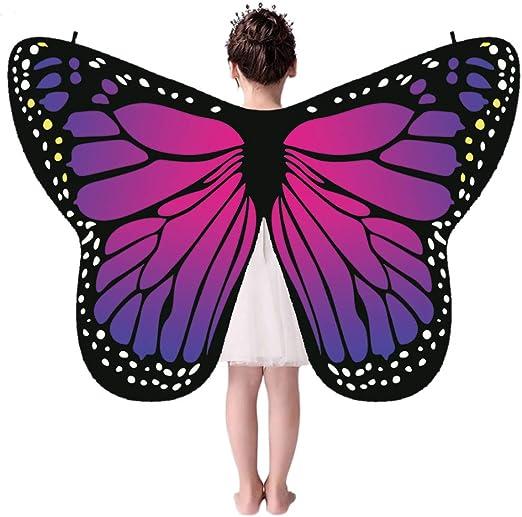 Forart - Disfraz Infantil de alas de Mariposa de Hada y Hada para ...