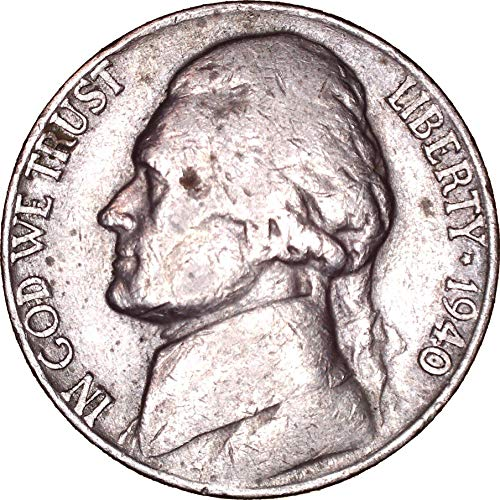 1940 Jefferson Nickel 5C About Uncirculated ()