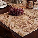 Luxury Damask Table Placemats (12x18 inch) Set of 6