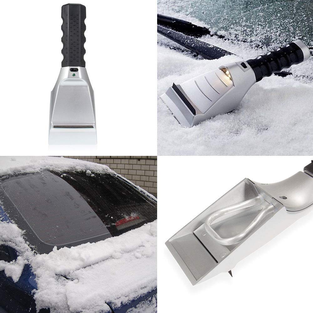 LordBee Car Auto Windshield Ice Snow Scraper Electric Heated Scraper Anti-Scratch Cleaning Shovel 12V Car Lighter Plug in Winter Power Tools by LordBee