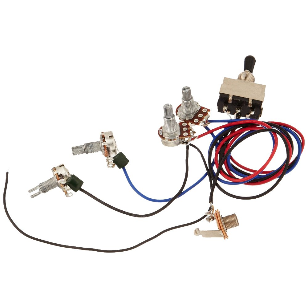 Zorvo Guitar Wiring Harness Kit 2v2t 3 Way Toggle Switch Les Paul Input Jack For Gibson Lp Parts Musical Instruments