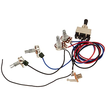 amazon com: zorvo guitar wiring harness kit 2v2t 3 way toggle switch for  gibson les paul lp parts: musical instruments