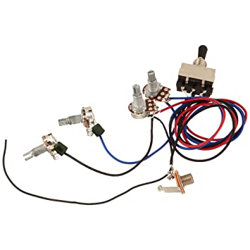 61P2ERck%2BzL._SY355_ amazon com zorvo guitar wiring harness kit 2v2t 3 way toggle toggle switch wiring harness at readyjetset.co