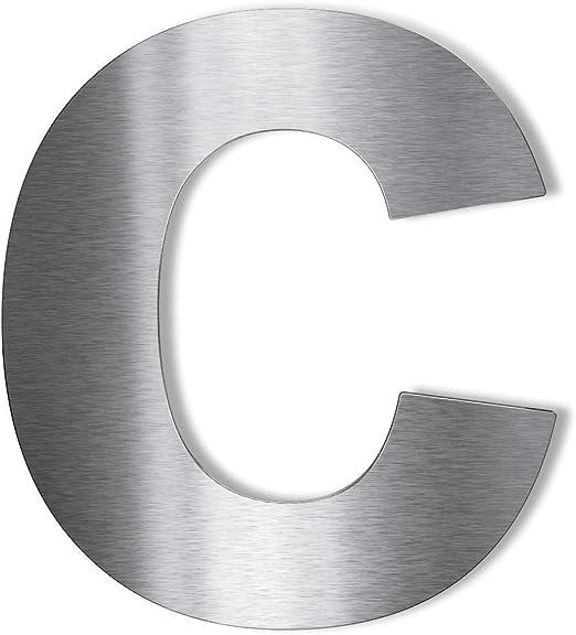 Hochwertige Edelstahl V2A HausnummerKlassisch grob geschliffen massiv /& rostfrei H/öhe 140mm 2mm 7 Materialst/ärke
