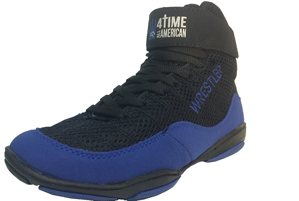 hot sale online 12d0a 2b291 Youth, Kids Wrestling Shoes, Blue Wrestler, Size 11-5.5 by 4 Time All  American  Amazon.ca  Shoes   Handbags