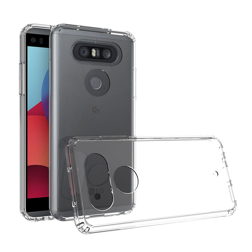 Xiu7 Clear Case for LG Q8, ultra-slim and lightweight design-Transparent