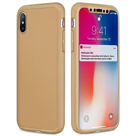c9081e15e1b Eouine Funda iPhone 6s Plus, Carcasa 360 Grados Integral para Ambas Caras +  Cristal Templado