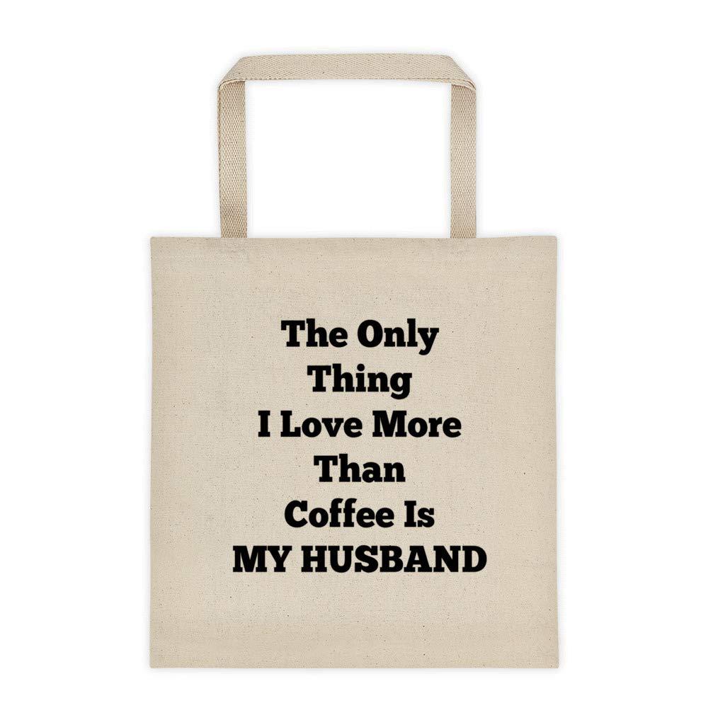 74f958450d1e Amazon.com: I Love My Husband Tote Bag, Reusable Carry All Canvas ...