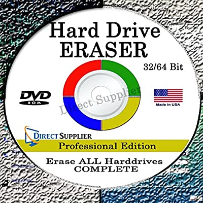 NEW Hard Drive Eraser 32/64Bit Professional Edition - Wipe your Hard Drive Securely for for ALL operating systems