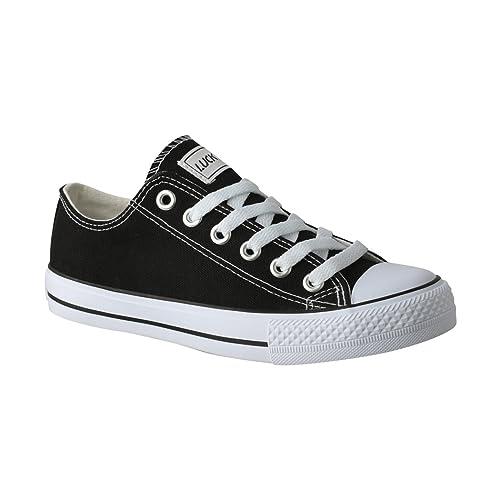 Elara Unisex Zapatillas | Sport Guantes Cómodo para Hombre y Mujer | Low Top Turnschuh Textil Guantes 36 - 46: Amazon.es: Zapatos y complementos