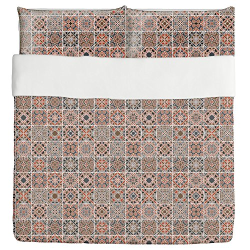Sixteen Ways Duvet Bed Set 3 Piece Set Duvet Cover - 2 Pillow Shams - Luxury Microfiber, Soft, Breathable by uneekee