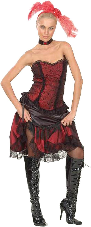 El Carnaval Disfraz cabaretera Western Mujer Adulto: Amazon.es ...